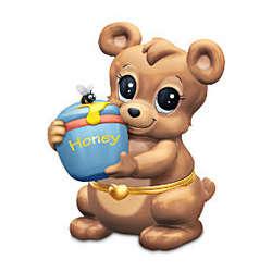 Granddaughter, You're My Honey Bear Porcelain Music Box