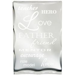 The Facets of a Father Plaque