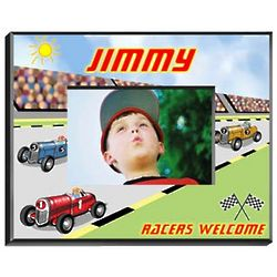 Personalized Race Car Boy's Picture Frame