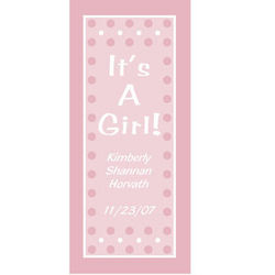 Personalized It's a Girl Door Cover