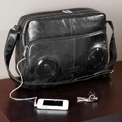 Rock My Way Black Speaker Messenger Bag