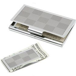 Pewter Card Holder and Money Clip