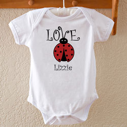 Baby's Personalized Love Bug Bodysuit