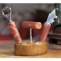 Nature's Bar Cedar Bottle Opener Set