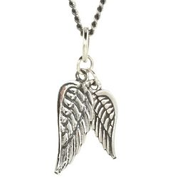 Sterling Silver Double Wing Pendant