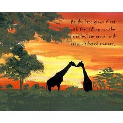 Evening Giraffes Personalized Art Print