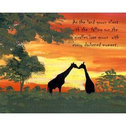 Evening Giraffes Personalized Art Print