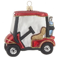 Red Golf Cart Christmas Ornament