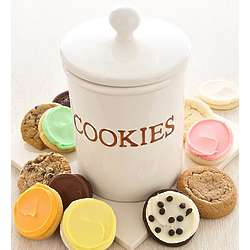 Deluxe Cookie Jar with Delicious Cookies