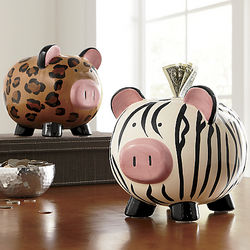 Animal Print Piggy Bank