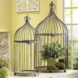 Decorative Antique Metal Birdcages
