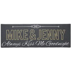 Personalized Always Kiss Me Goodnight Canvas Art Print