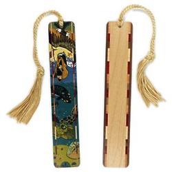 Tidal Medley Wood Bookmark with Tassel