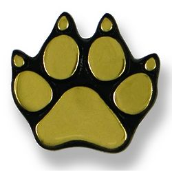 Dog Paw Polished Brass Doorbell Button