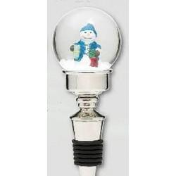 Snowman Snowglobe Bottle Stopper