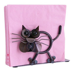 Crazy Cat Napkin Holder