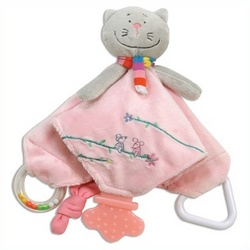 Keiko Kitty Baby Chew Blanket
