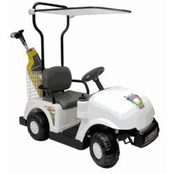Battery-Powered Golf Cart Ride-On Toy