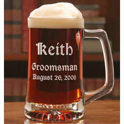 Classic Personalized Groomsman Beer Mug