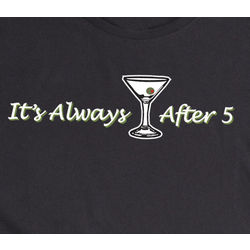 It's Always After 5 Long Sleeve Black T-shirt