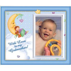 With Love to My Godmother Blue Picture Frame