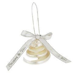 Personalized Ribbon Seashell Ornament