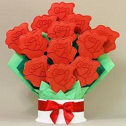 Dozen Red Roses Cookie Bouquet