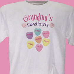 Grandma's Sweethearts Candy T-Shirt