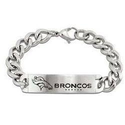 Men's Denver Broncos Stainless Steel Bracelet