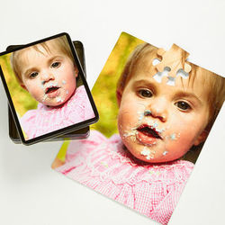 Personalized Photo Puzzle with Keepsake Tin
