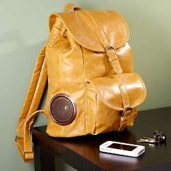Rock My Way Latte Leather Bookbag