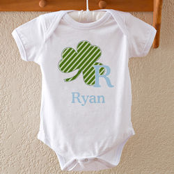 Baby Boy's Personalized Shamrock Bodysuit