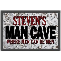 Where Men Can Be Men Personalized Man Cave Doormat