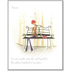 Park Bench Thoughts Personalized Print