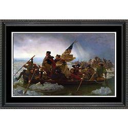 Washington Crosses the Delaware Framed Print