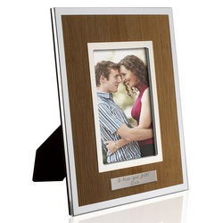 Personalized Silver Bamboo Picture Frame