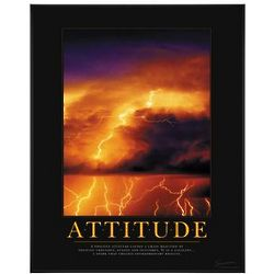 Attitude Lightning Motivational Poster