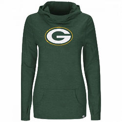 Green Bay Packers Womens Cowl Neck Hooded Top