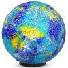 Illuminated Blue Mosaic Gazing Ball