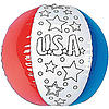 Inflatable Color Your Own! Patriotic Beach Balls