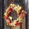 "24"" Faux Maple Leaf Wreath"