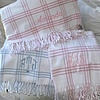 Personalized Windowpane Check Flannel Blanket