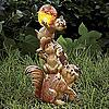 Squirrel Family Solar Figurine
