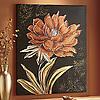 Copper Floral Canvas