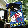 Personalized Congrats Graduation Banner with Gold Metallic Tassel