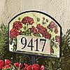 Geranium Basket Yard Address Sign