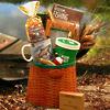 The Fisherman's Fishing Creel Gift Basket