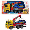 Children's Plastic Tow Truck with Pneumatic Air Pump and Crane