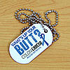 Personalized What's Up Your Butt Colon Cancer Dog Tag Necklace