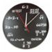 Math Problem Wall Clock